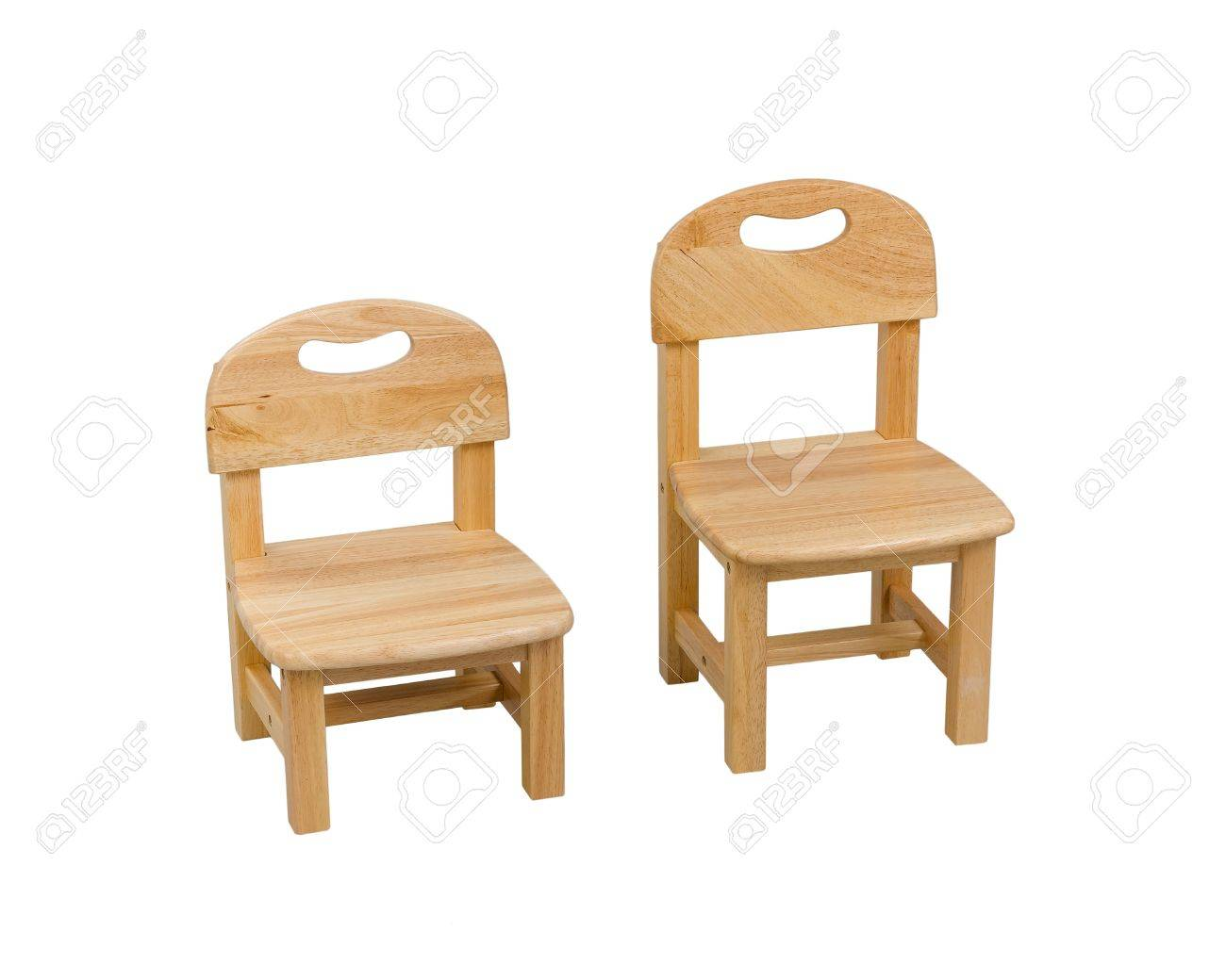 small wooden chair unusual bean bags chairs for kid isolated on white background stock photo 19222364