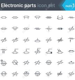 complete set of electric and electronic circuit diagrams symbols circuit diagram elements circuit diagram elements [ 1300 x 1300 Pixel ]