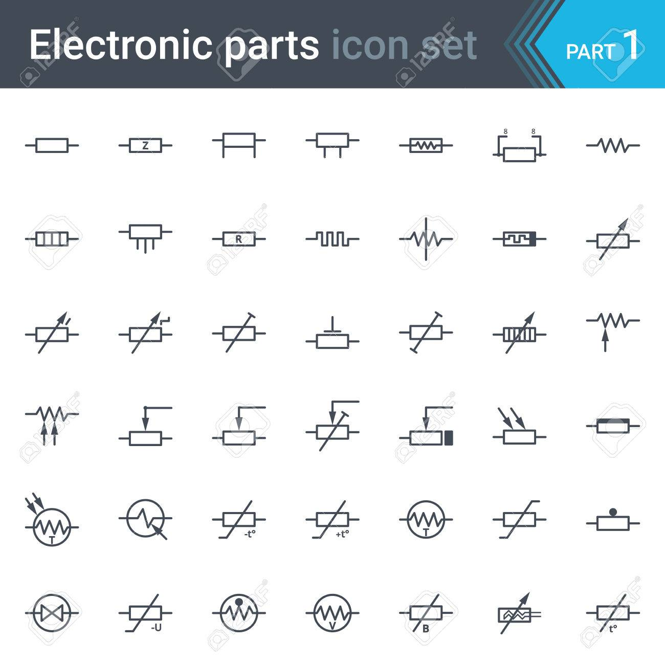 hight resolution of complete set of electric and electronic circuit diagrams symbols circuit diagram elements circuit diagram elements