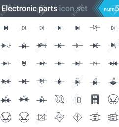 complete set of electric and electronic circuit diagrams symbols and elements diodes and bridge rectifier [ 1300 x 1300 Pixel ]