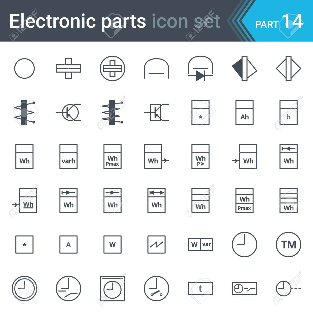 hight resolution of electric and electronic circuit diagram symbols of meters recorders electric and electronic circuit diagram symbols