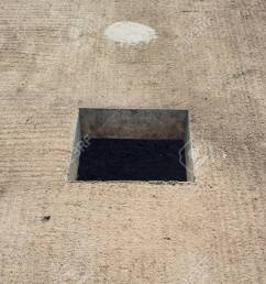cement wall with rectangle hole for sewerage and electricity wiring foto de archivo 106371404 [ 1300 x 866 Pixel ]