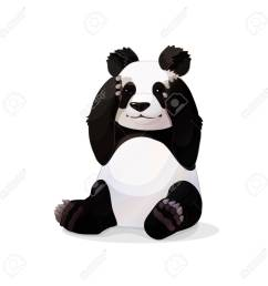 vector vector cartoon animal clipart sitting giant panda [ 1300 x 1300 Pixel ]