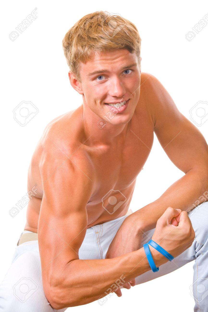 portrait of handsome muscular