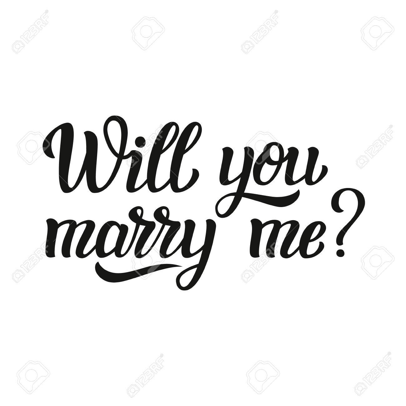 will you marry me hand lettering typography text for wedding decor family or