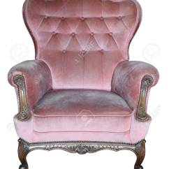 Vintage Arm Chair Cover Rentals Youngstown Ohio Armchair Pink Fabric Classical Style Sofa Stock Photo