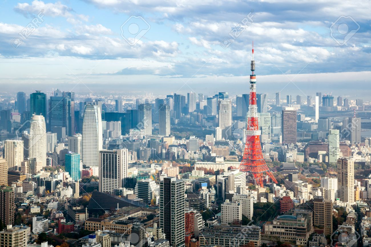 tokyo tower with skyline