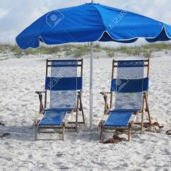 Beach Chairs And Umbrella Oxo High Chair Recall Umbrellas Stock Photo Picture Royalty Free Image 21441478