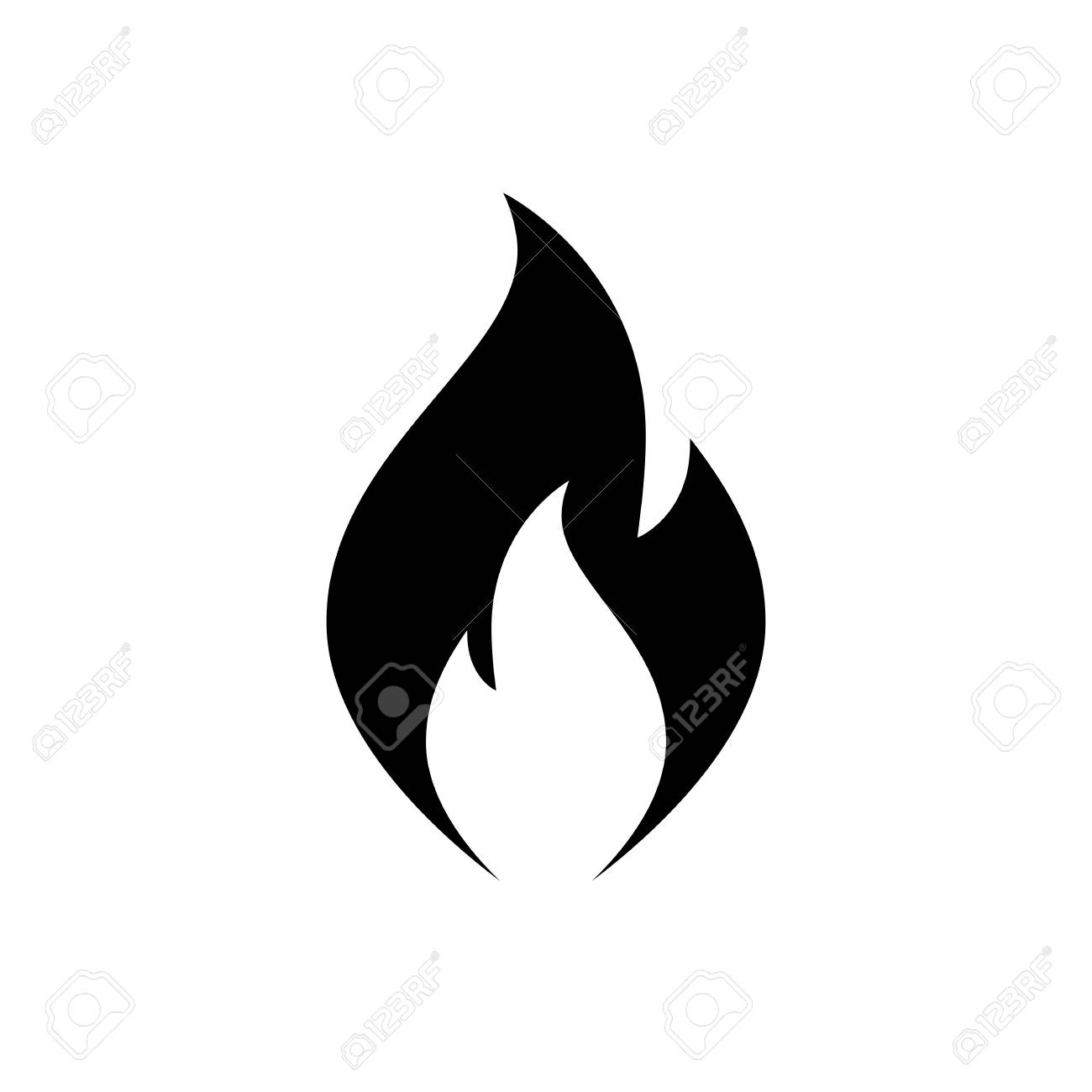 fire flame icon black