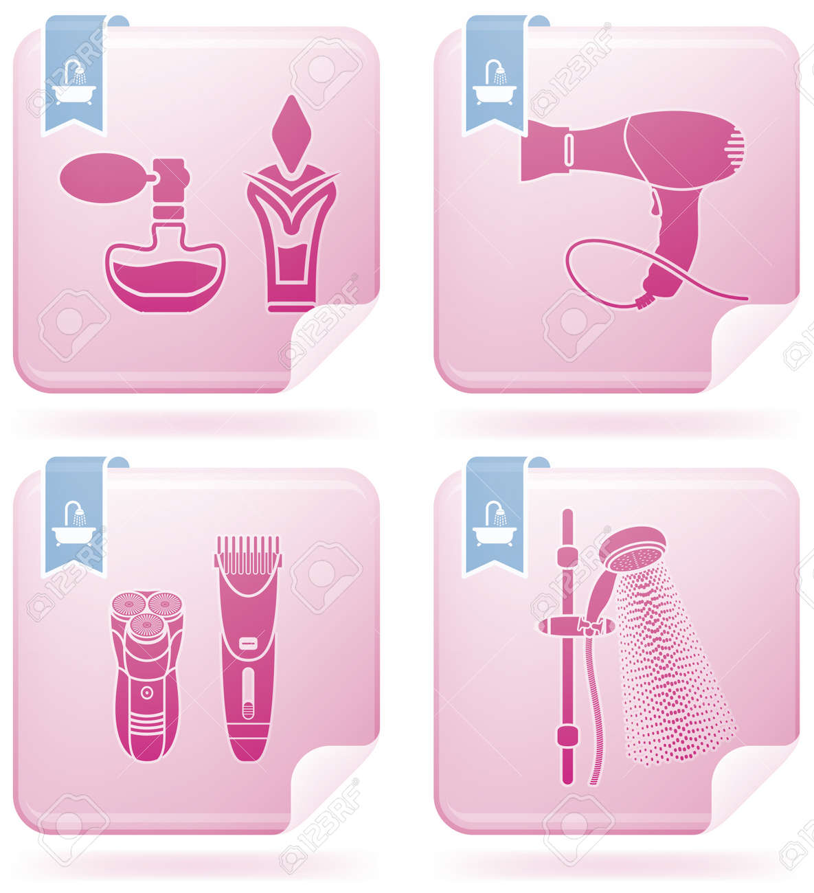 Bathroom Utensils And Other Related Everyday Things Royalty Free Cliparts Vectors And Stock Illustration Image 6955533
