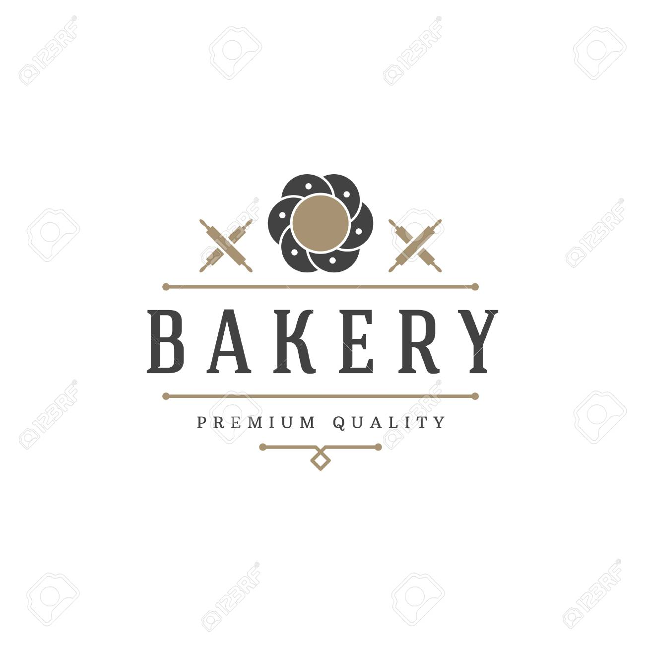 Bakery Shop Logo Template Vector Object And Icons For Pastry