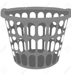 vector vector illustration grey plastic laundry basket basket for clothes [ 1300 x 1300 Pixel ]