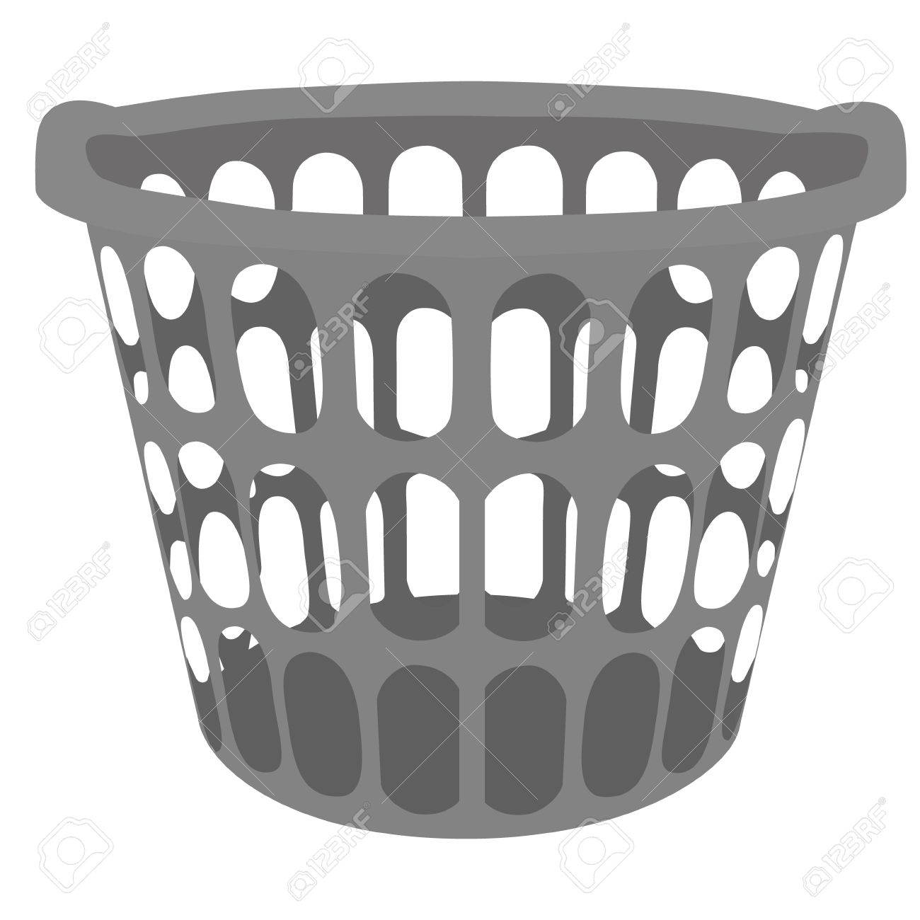 hight resolution of vector vector illustration grey plastic laundry basket basket for clothes