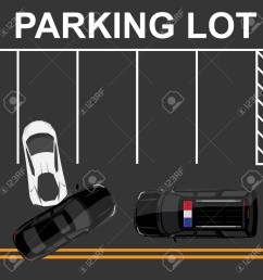 raster illustration top view of car accident with white sport car and black sedan on road [ 1300 x 1300 Pixel ]