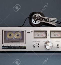 stereo cassette tape deck analog vintage stock photo 16664150 [ 1300 x 866 Pixel ]