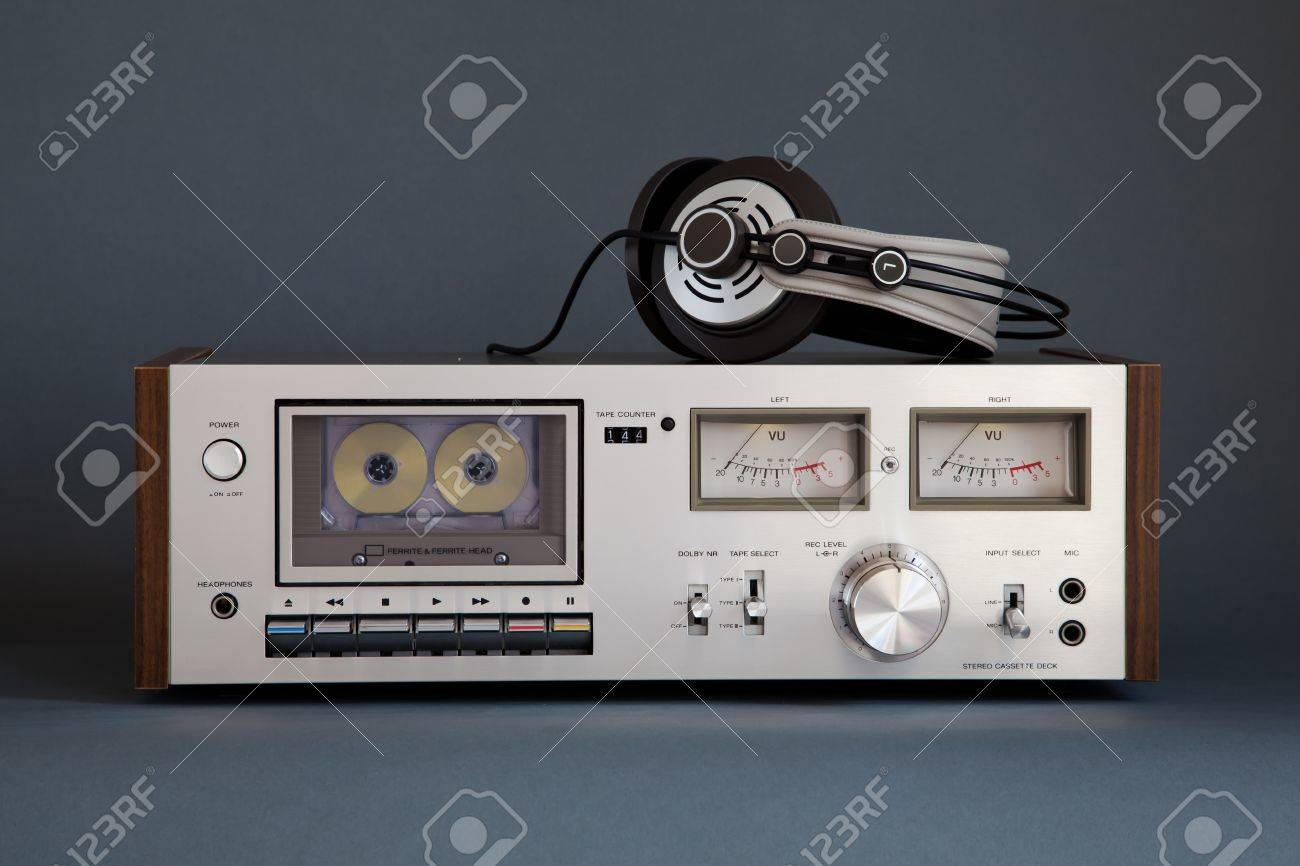 hight resolution of stereo cassette tape deck analog vintage stock photo 16664150
