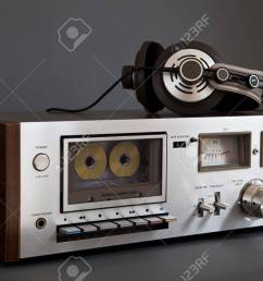 stereo cassette tape deck analog vintage stock photo 16664148 [ 1300 x 866 Pixel ]