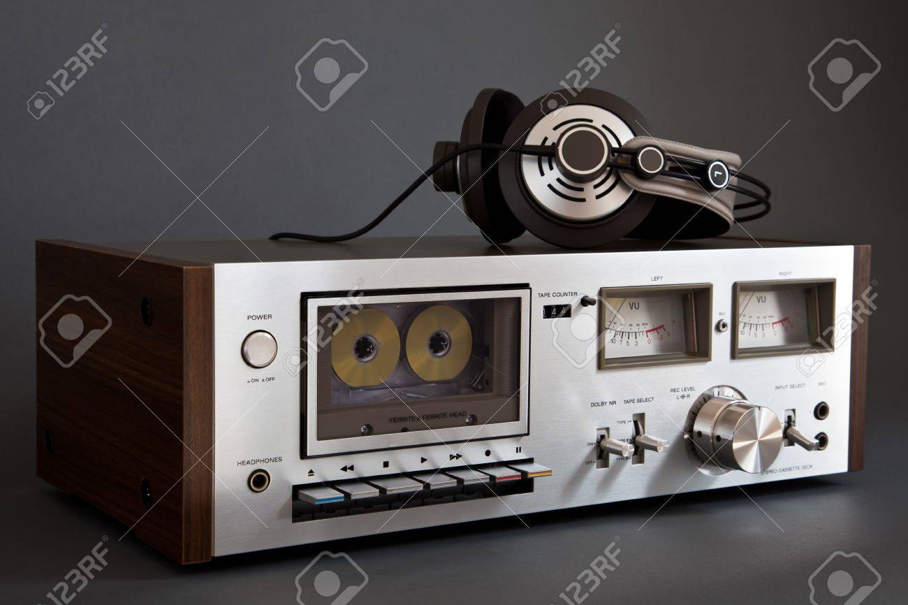 hight resolution of stereo cassette tape deck analog vintage stock photo 16664148