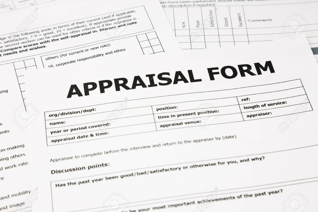 Closeup Appraisal Form And Paperwork, Evaluation And Assessment Concept For  Business Stock Photo - 25844630