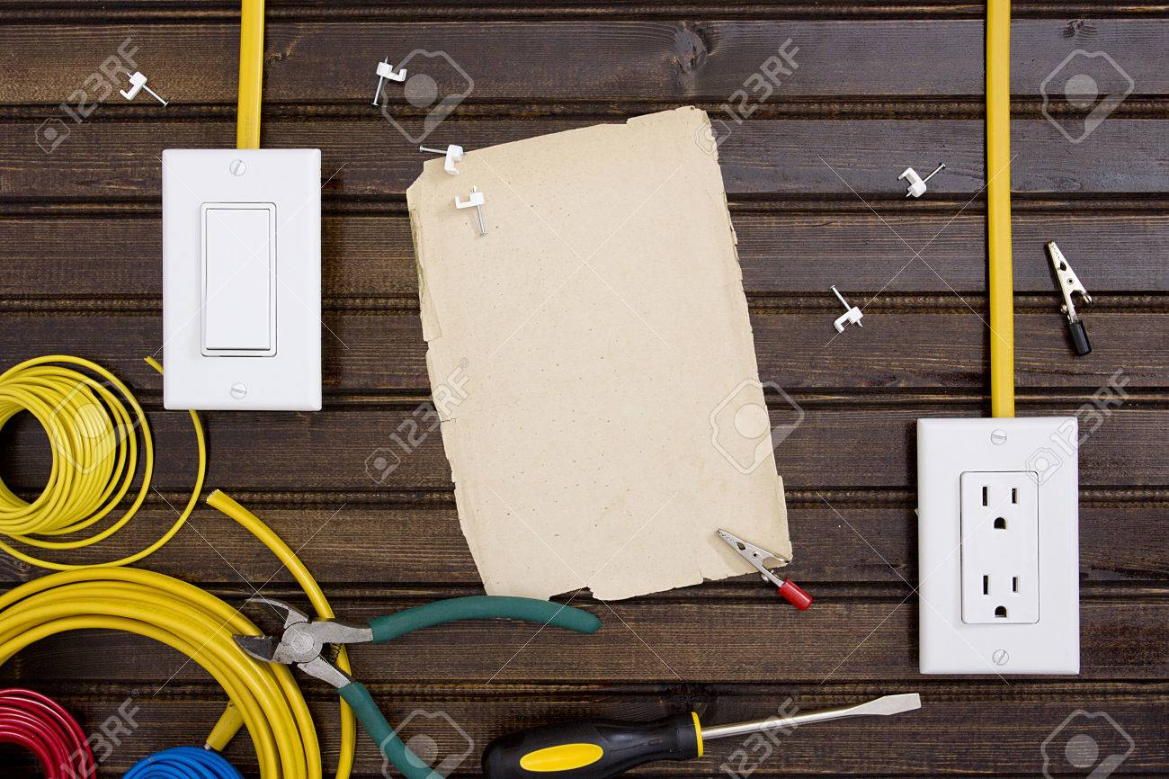 hight resolution of equipment and tools for installing electrical outlets and switches stock photo 37454674