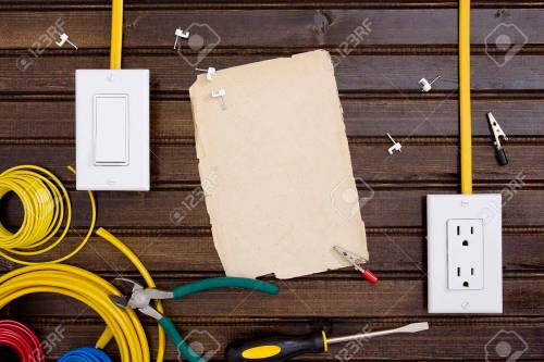 small resolution of equipment and tools for installing electrical outlets and switches stock photo 37454674
