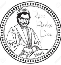 stamp imprint for the holiday rosa parks day the event is marked on february 4 [ 1300 x 1300 Pixel ]