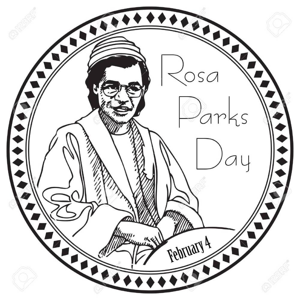 medium resolution of stamp imprint for the holiday rosa parks day the event is marked on february 4