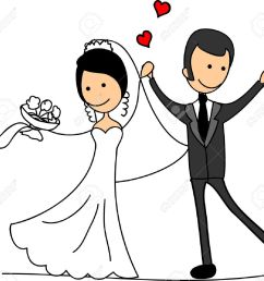 sweethearts and happy bride and groom stock vector 11498767 [ 1300 x 1199 Pixel ]