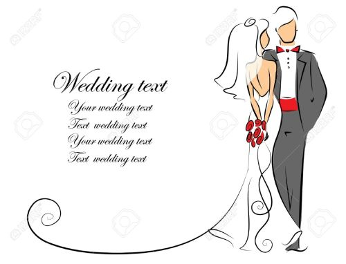 small resolution of silhouette of bride and groom background