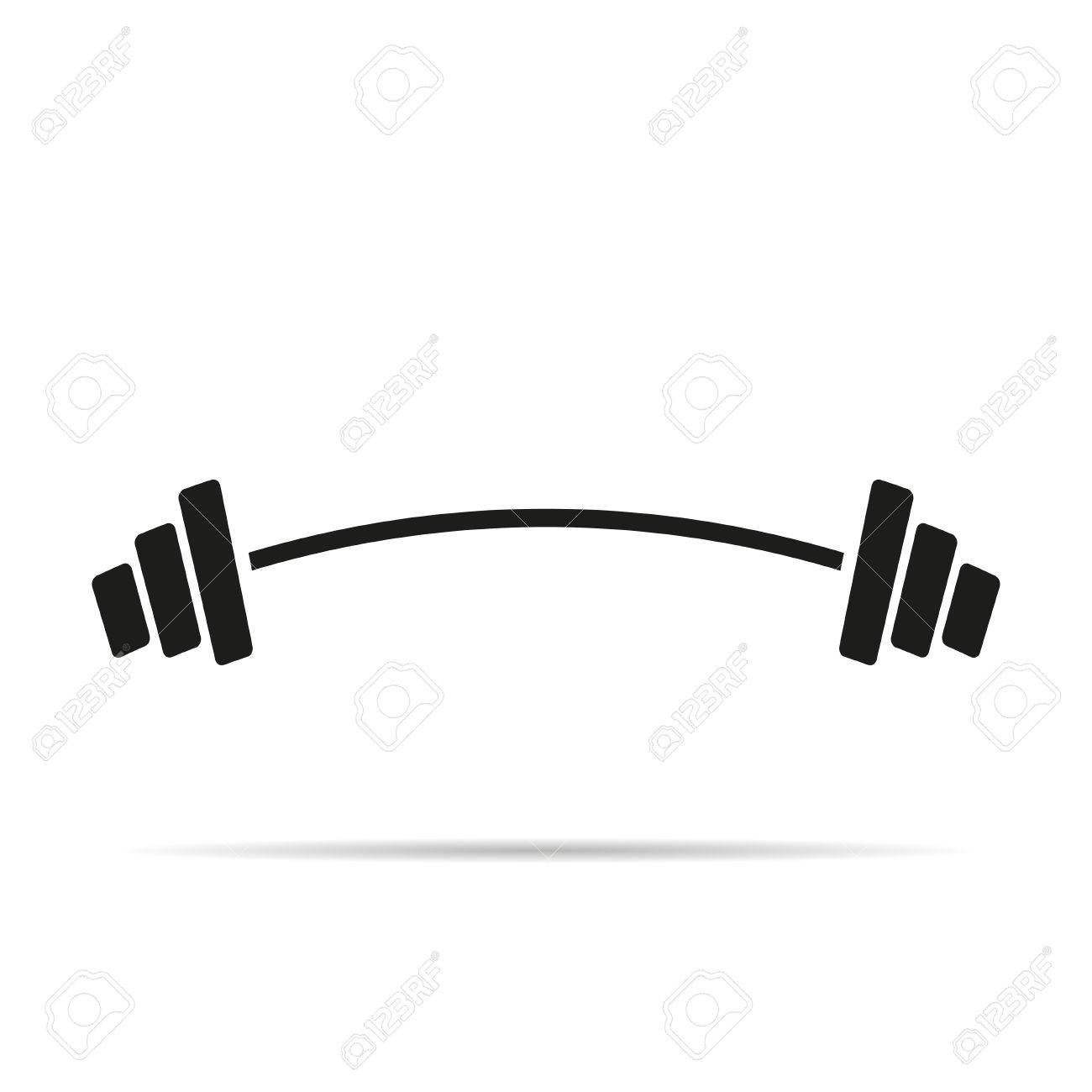 barbell icon flat design