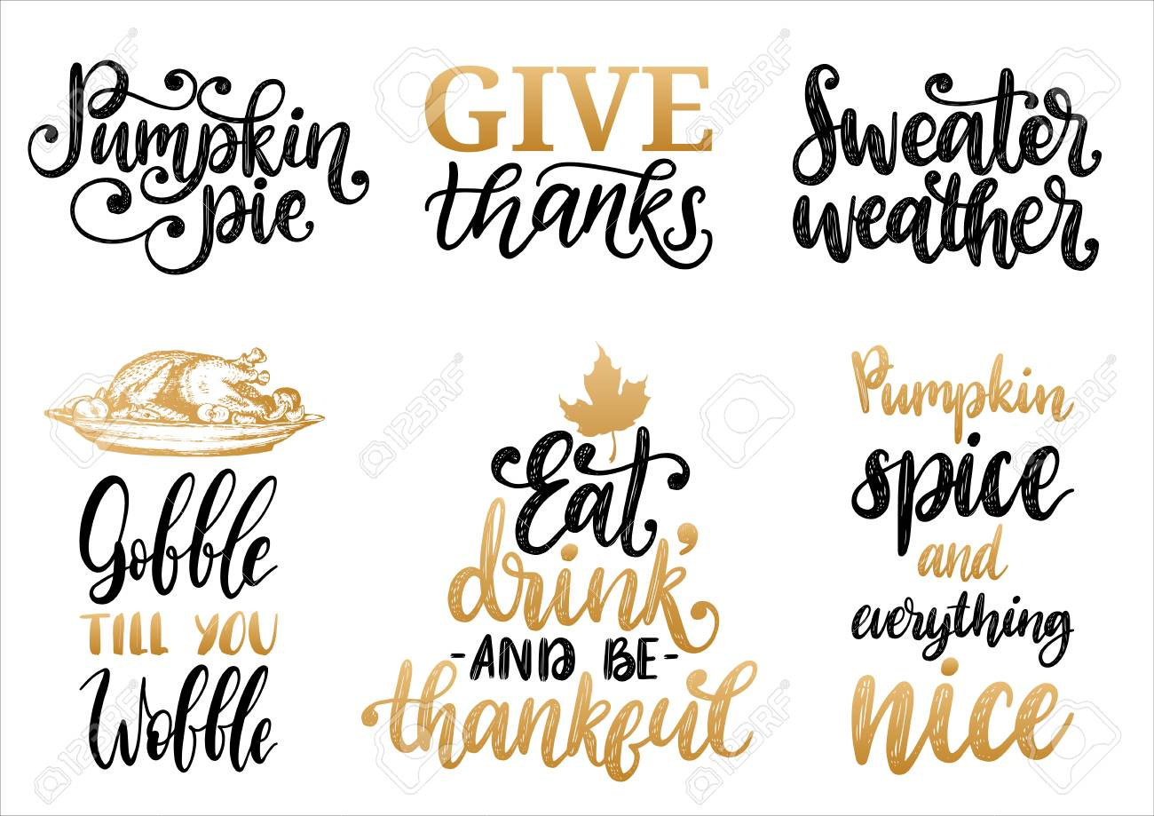 hight resolution of sweater weather give thanks pumpkin pie etc stock vector 111940424