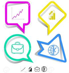 briefcase globe and clock diagram paper stickers vector [ 1139 x 1300 Pixel ]