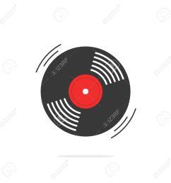 vector vinyl record vector icon gramophone record symbol rotating record vinyl disc flat vinyl lp cartoon vinyl record label cover emblem modern  [ 1300 x 1300 Pixel ]