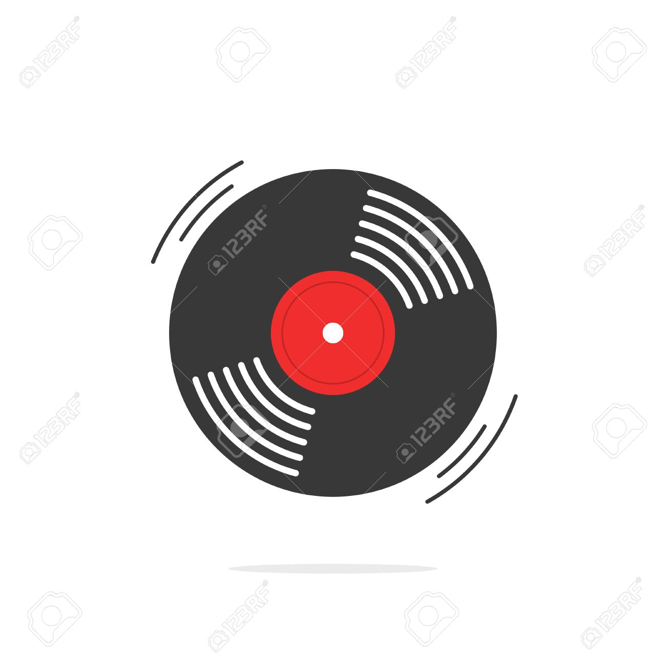 hight resolution of vector vinyl record vector icon gramophone record symbol rotating record vinyl disc flat vinyl lp cartoon vinyl record label cover emblem modern