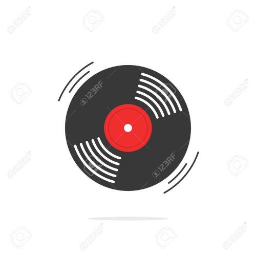 small resolution of vector vinyl record vector icon gramophone record symbol rotating record vinyl disc flat vinyl lp cartoon vinyl record label cover emblem modern