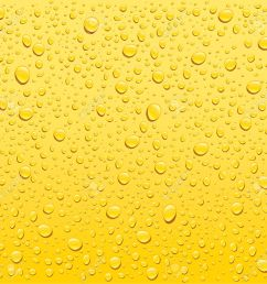 vector yellow water drops background [ 1300 x 1276 Pixel ]