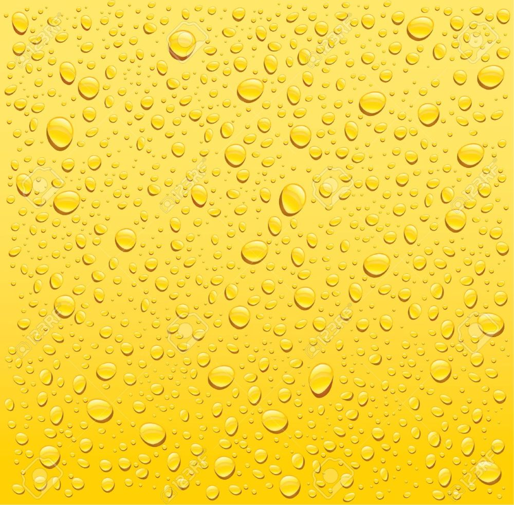 medium resolution of vector yellow water drops background