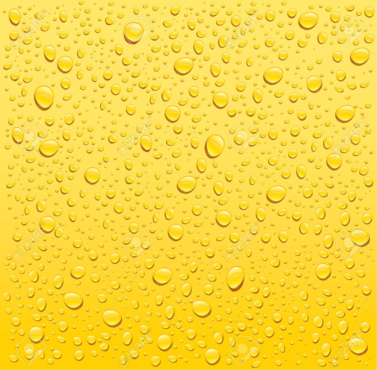 hight resolution of vector yellow water drops background