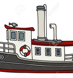 funny old steamboat stock vector 88801714 [ 1300 x 845 Pixel ]