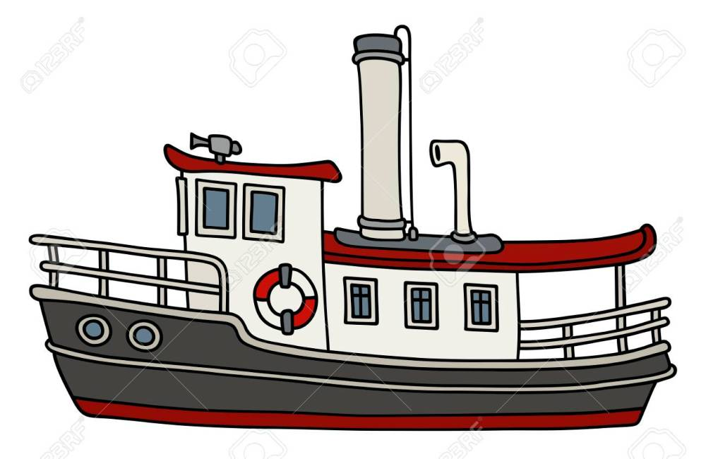 medium resolution of funny old steamboat stock vector 88801714