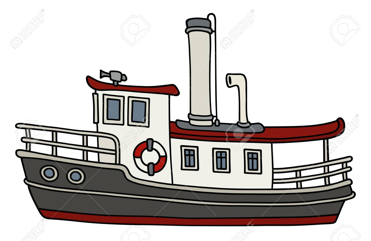 hight resolution of funny old steamboat stock vector 88801714