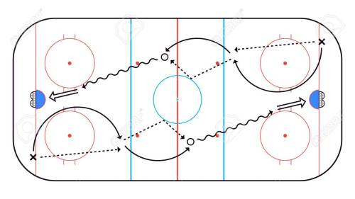 small resolution of ice hockey rink top view hockey background vector illustration stock vector 122807109