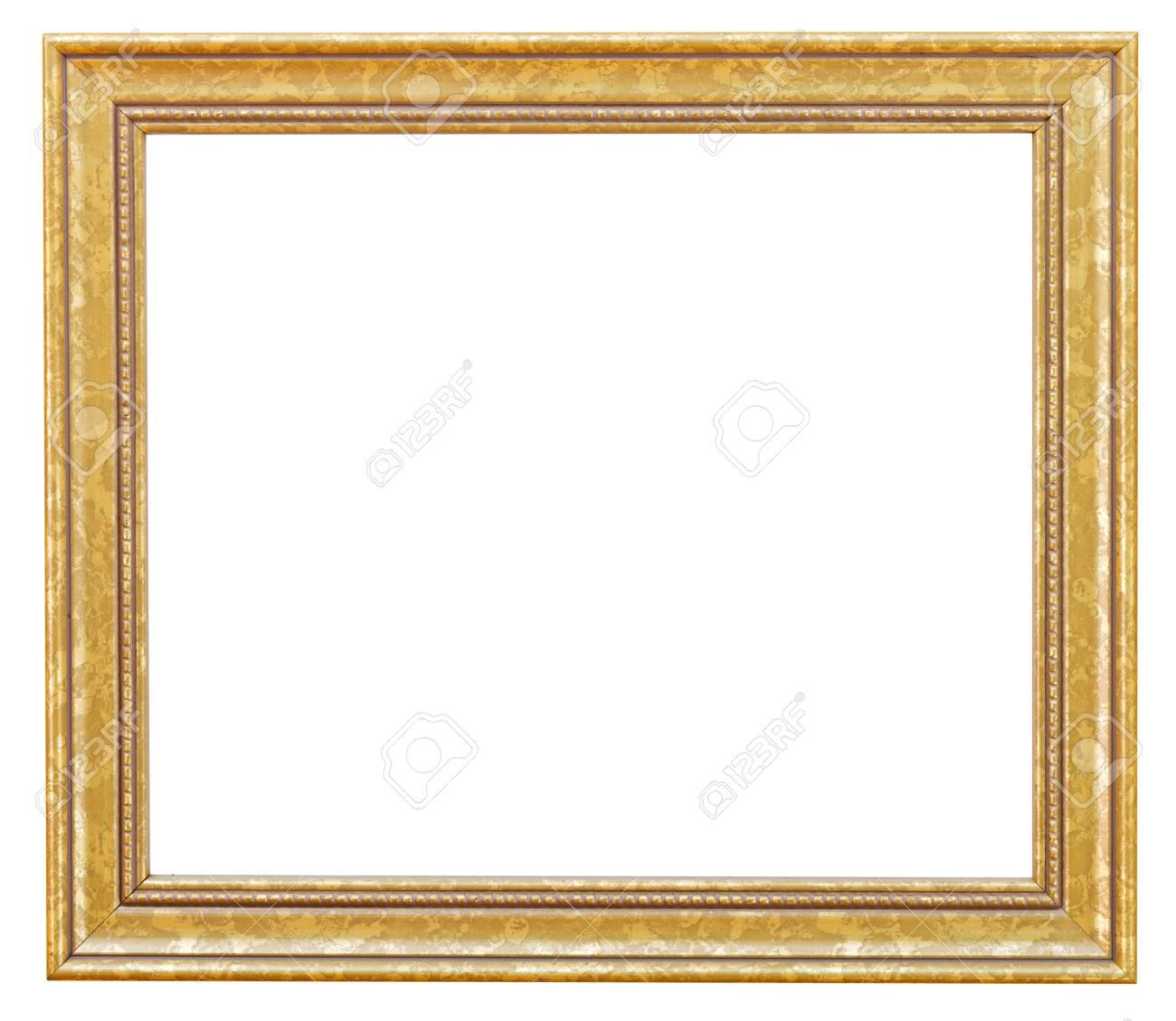 grand cadre de tableau dore avec en toile de decoupe isole sur fond blanc