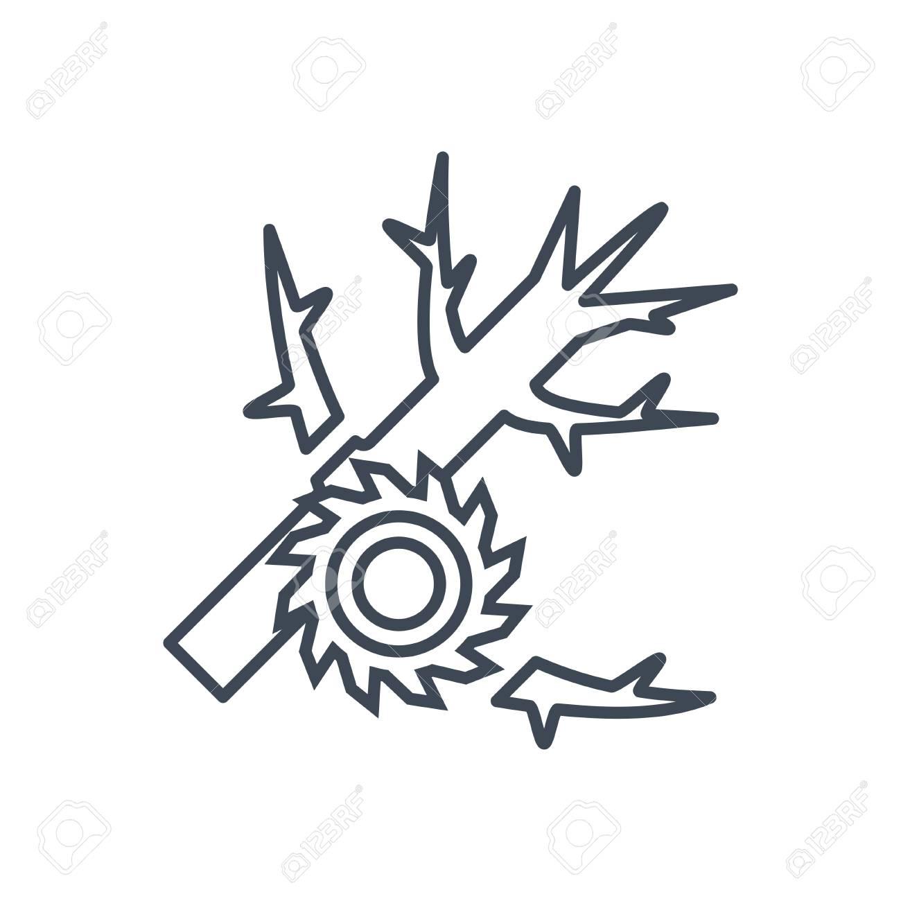 thin line icon lumber