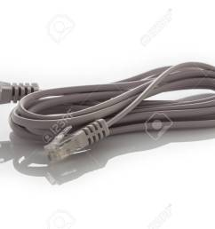 an isolated image of a phone data cable rj11 stock photo 43669211 [ 1300 x 860 Pixel ]