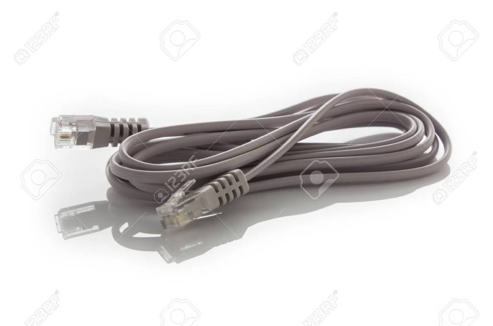 medium resolution of an isolated image of a phone data cable rj11 stock photo 43669211