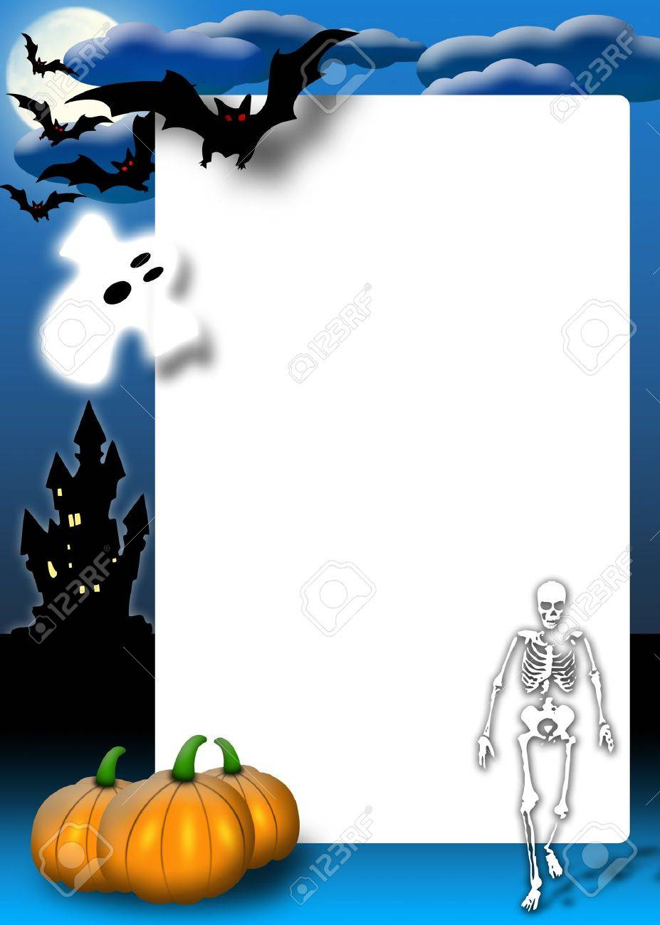 halloween invitation card for the party or background with