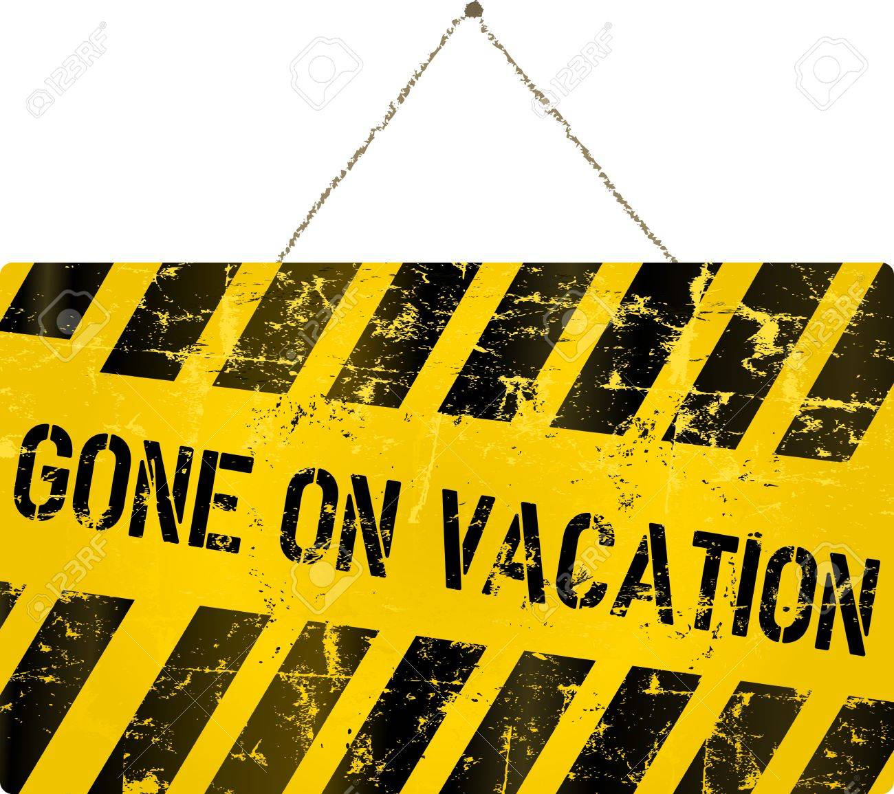 Gone On Vacation Sign Vector Illustration Royalty Free Cliparts Vectors And Stock Illustration Image 37200590