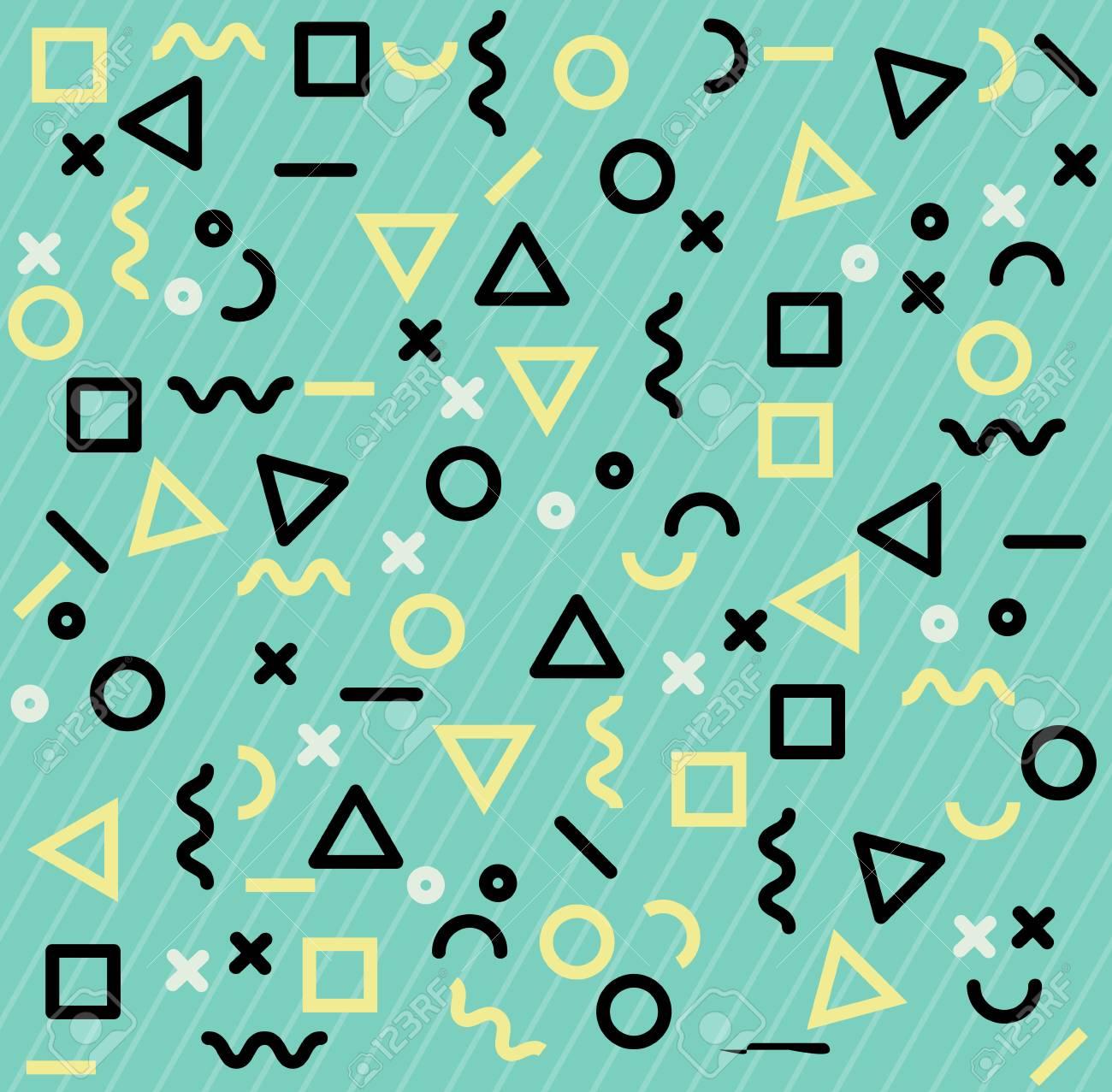 memphis patterns geometric shapes
