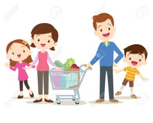 Family Shopping Characters Set Shopping Isolated On White Background Royalty Free Cliparts Vectors And Stock Illustration Image 62120437